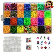 Kiserena 7000 Premium Rubber Bands Bracelet Refill Kit - 28 Rainbow Loom Band...