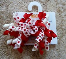 Gymboree Girls Hair Clips x 2 (Red and White), Brand New - G24