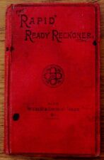 VINTAGE-1890s-THE 'RAPID' READY RECKONER-GALL AND INGLIS HARDBACK BOOK