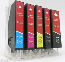 5 Pack PGI-225 CLI-226 SCIS Ink System for Canon Pixma MG5120 MG5200 MG5220 RFB