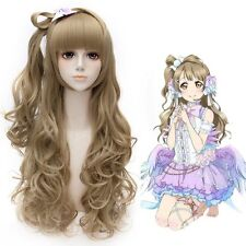 Love Live Minami Kotori Cosplay Wig Long Blonde Finger Wave Synthetic Hair Wigs