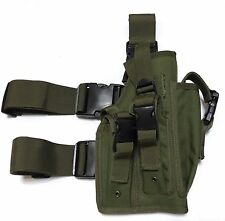 New Airsoft MK23 USP Tactical Dropleg Pistol Holster Utility Pouch OD Green