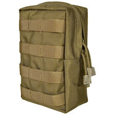 FLYYE MILITARY VERTICAL ACCESSORIES POUCH ARMY UTILITY POCKET MOLLE COYOTE BROWN