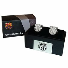 FC Barcelona Official Chrome Crest Cufflinks - In Gift Case - Gemelos de Barca