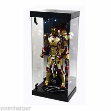 "MB Display Box Acrylic Case LED Light House for 12"" 1/6 Scale IRON MAN 3 Figure"