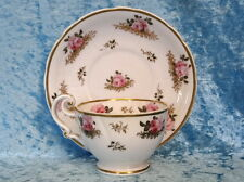 Fine Antique JOHN RIDGWAY Hand Painted & Gilt Pink Rose CUP & SAUCER, c1830