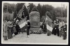 █ Carte Photo SEPPOIS-LE-BAS 68 Cérémonie Monument du Groupe Mobile d'Alsace GMA
