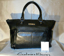 Authentic Calvin Klein Pebble Leather Hobo Bag - RRP £210 - VGC