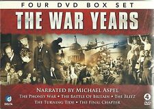 THE WAR YEARS - 4 DVD BOX SET - NARRATED BY MICHAEL ASPEL, THE PHONEY WAR & MORE