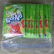 24 packets of KOOL-AID drink mix: GREEN APPLE flavored UNSWEETENED vitamin c