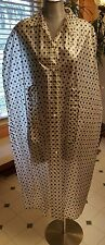 Vintage women's clothing rain cape clesr w/ black polka-dot 60's