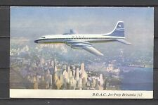 Postcard 1229 - Aircraft/Aviation B.O.A.C Jet-Prop Britannia 312