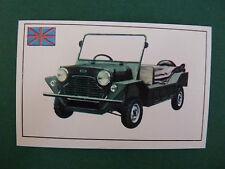 N°268 MORRIS MINI MOKE GRANDE BRETAGNE UK PANINI 1972 HISTOIRE DE L'AUTOMOBILE