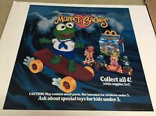"1987 McDonalds Happy Meal Translite Sign Store Display 21""x21"" Muppet Babies"