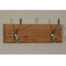 """Wooden Mallet 2 Hook Coat Rack- HCR-2NLO Coat Rack 12"""" x 3.5"""" x 4.5"""" NEW"""