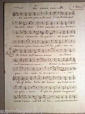 """Partition Manuscrite Ancienne """"Le Monde par mille artifices""""  Cantique"""