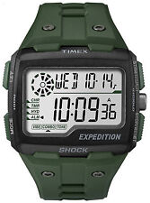 Watch Timex Grid Shock Expedition sport military green chronograph TW4B02600