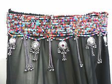 Kuchi Tribal Bead BELT Belly dance dress hip scarf wrap costume Jewelry Boho GUL