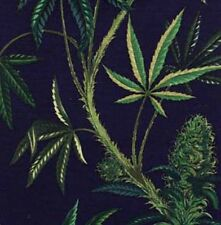 Marijuana Cannabis Sativa Fabric By Alexander Henry Oxford Cotton Canvas Fabric