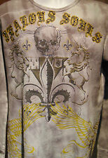 """Bulzeye """"Jealous Souls"""" Men's Graphic Design with studs and sequins Large"""