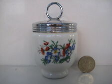 RARE EARLY ROYAL WORCESTER SINGLE EGG CODDLER TRAYMORE PRETTY FLORAL DESIGN ROSE