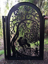 Metal Art Gate Iron Garden Decorative Custom Walk Thru Pedestrian Ornamental