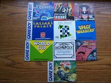 10 GAME BOY BOOKLETS PUNISHER,MONOPOLY,NAVY SEALS,SPACE INVADERS ITEM #602-20