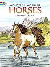 Adult Coloring Book Art Stress Relief Designs Wonderful World Of Horses Nature