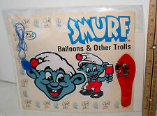 LP16 Vintage Gumball Machine Display Card Back Original SMURF Charm #8