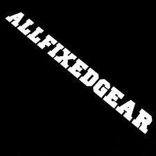 ALLFIXEDGEAR Solid White - Fixedgear Decal, sticker, fixed gear, vinyl, bike