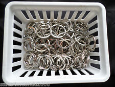 Huge Lot of 200 Silvertone Keychains Make Your Own DIY Great Deal ~ Fast Ship