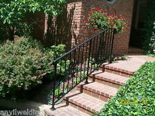 "HAND RAILS PLASTIC SHOES WROUGHT IRON SNAP ON 1"" FEET FOR RAILING POST LEGS"