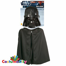 Kids Darth Vader Maschera E mantello ufficiale Star Wars Costume Accessorio