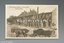 - AK Hohenstein ZERSTÖRTER LADEN mit KATHREINER+MAGGI 1916 -