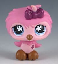 Littlest Pet Shop Owl #496 Pink With Blue Eyes
