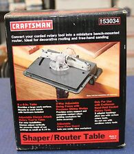 Craftsman Shaper Router Table for Rotary Tool - #953034