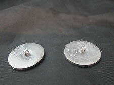 Dollhouse Miniature Unfinished Metal Soda Shop Item - 2 lg Ice Cream Lids