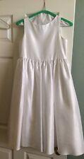 Girls White Flower Girl Bridal Dress - Size 14/16