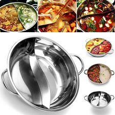 36cm Stainless Steel Dual Site Divided Twin Duck Hot Pot Shabu-Shabu Induction