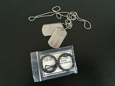 DOG TAG AMERICAN US MILITARY ARMY CHAIN NECKLACE