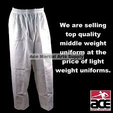 MARTIAL ARTS KARATE TAEKWONDO GI UNIFORM PANTS WHITE SIZE 5