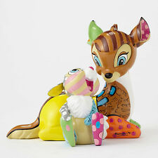 Disney by Romero Britto Bambi with Thumper 4055230 NEW NIB 75th Anniversary
