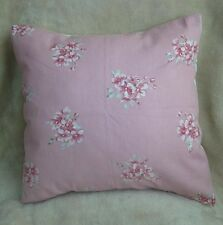 "NEW 16"" Shabby Baby Pink Small Roses Rose Floral Vintage Chic Cushion Cover"