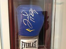 "FLOYD ""MONEY"" MAYWEATHER JR. AUTOGRAPHED EVERLAST BLUE LEATHER BOXING GLOVE COA"