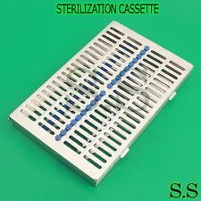 NEW Dental Sterilization Cassette Rack Tray Box For 20 Surgical Instruments