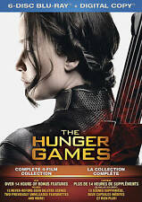 The Hunger Games Complete 4 Film Collection 6-Disc Blu-ray with slipcase