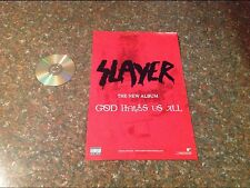 RARE 2-sided 17x11aprox. Promo album Poster SLAYER heavy metal no cd dvd oop .