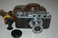 Zorki 1 Type C Vintage Soviet Rangefinder Camera With Case & Cap 1951. No.288095