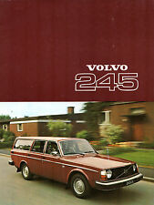 Volvo 245 Estate 1976-77 UK Market Sales Brochure DL DLE 240-Series