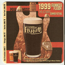 12 Guinness Fleadh 1999  Beer Coasters  4 Sets Of  3
